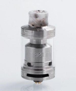 authentic-godria-bolt-rta-rebuildable-tank-atomizer-silver-stainless-steel-2ml-24mm-diameter-1